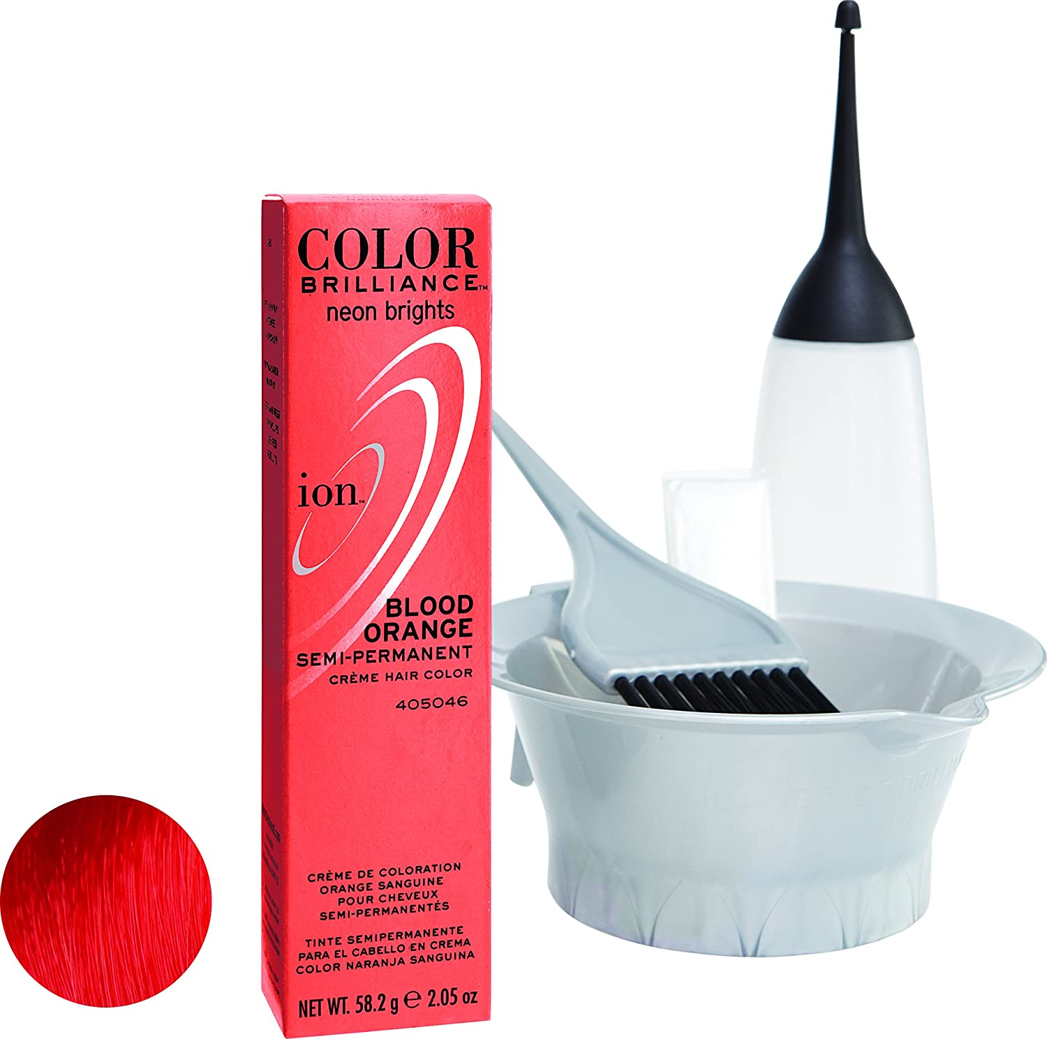 Ion Color Brilliance Semi Permanent Neon Brights Hair Color Blood Orange by Ion