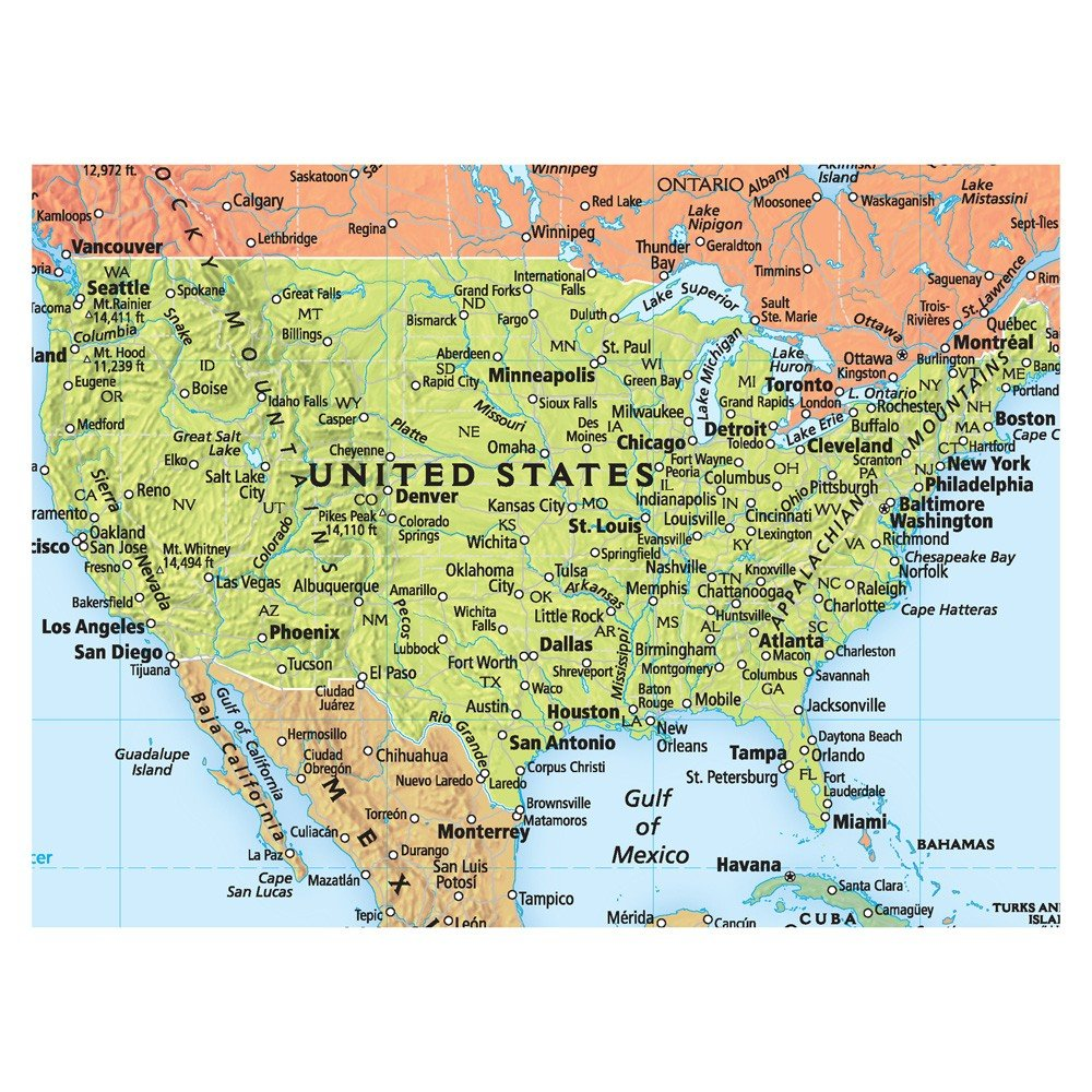 Amazoncom Rand McNally Signature United States USA And World - Rand mcnally us wall map