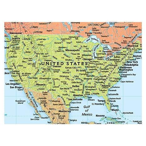 amazon com rand mcnally signature united states usa and world wall map set laminated rolled office products