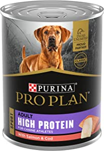 Purina Pro Plan Sport High Protein with Salmon & Cod Entrée Wet Dog Food - (12) 13 oz. Cans