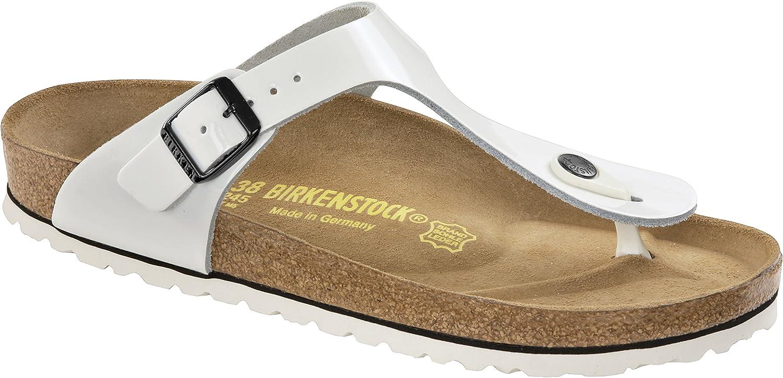 | Birkenstock Gizeh Womens White Patent Leather