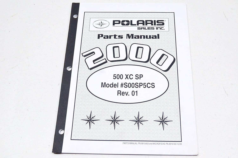 Amazon.com: Polaris 9916183 Polaris 2000 500 XC SP Parts Manual QTY 1:  Automotive