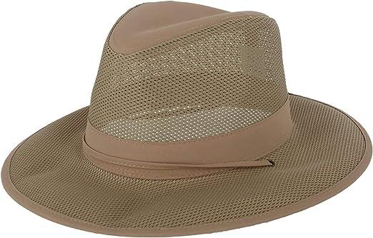 New Kenny K Men/'s Lightweight Mesh Safari Hat with Chin Cord