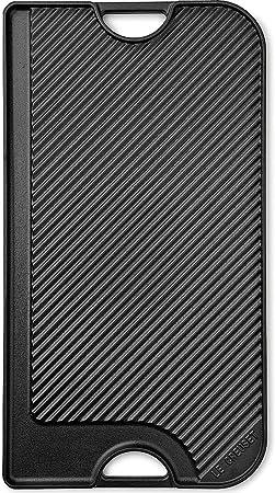 Le Creuset Parrilla de hierro fundido, Rectangular, 47 x 23 cm, Para todo tipo de fuentes de calor y horno, no apto para inducción, Negro mate: Amazon.es: Hogar