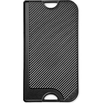 Le Creuset - Parrilla Reversible Larga de hierro colado esmaltado, 46cmX25,50cm, color negro mate: Amazon.es: Hogar