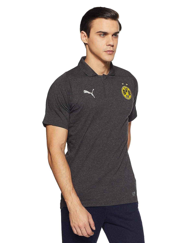 Puma Herren BVB Casual Polo Without Sponsor Logo T-Shirt, Dark ...