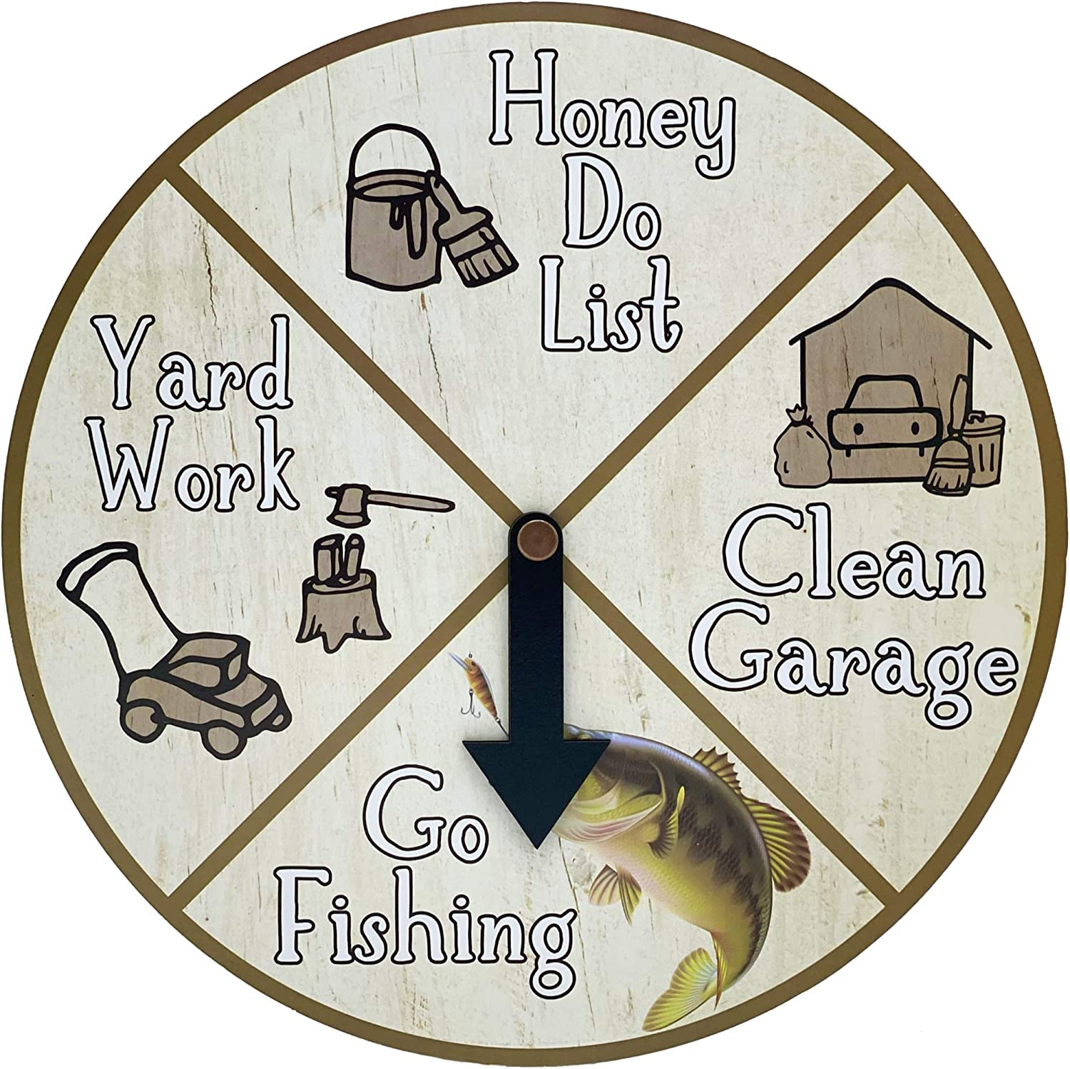 KANALOA Perfect Day Planner - Go Fishing Spinner Game - Funny Desk, Shelf or Wall Hanging Décor for Home, Bar or Office, Fishing Gifts for Men or Women