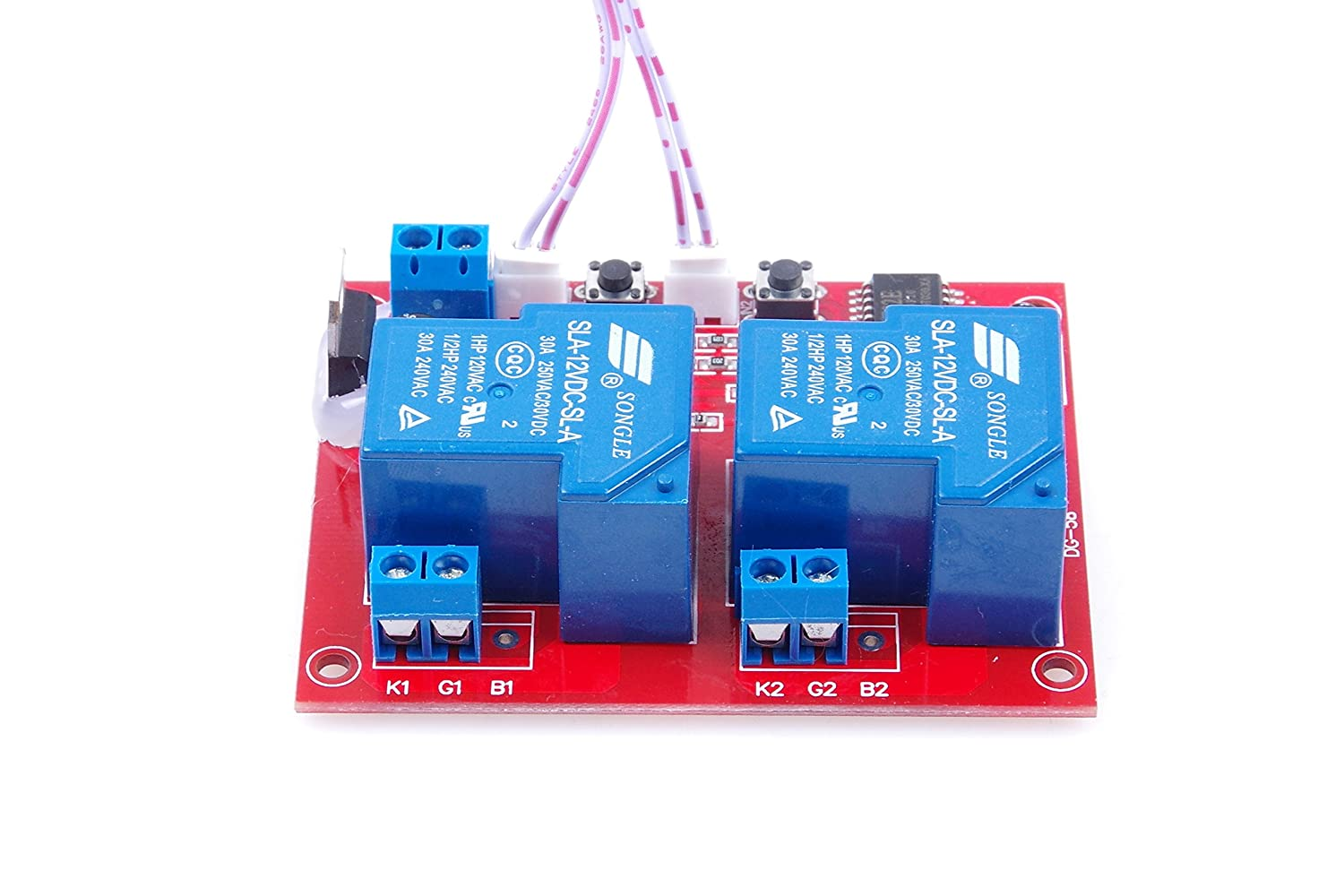Knacro Dc 12v 2 Channel Self Latching Relay Module One As Well Circuit Diagram Further Button Bistable Switch Start Stop High Level Trigger Home Audio Theater
