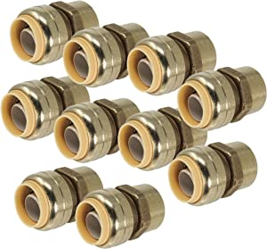 """[10-Pack] PROCURU 3/4"""" PushFit x 3/4"""" FNPT Female Adapter 