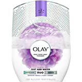 Olay Duo Dual-Sided Body Cleanser, Orchid & Black Currant (Pack of 2)