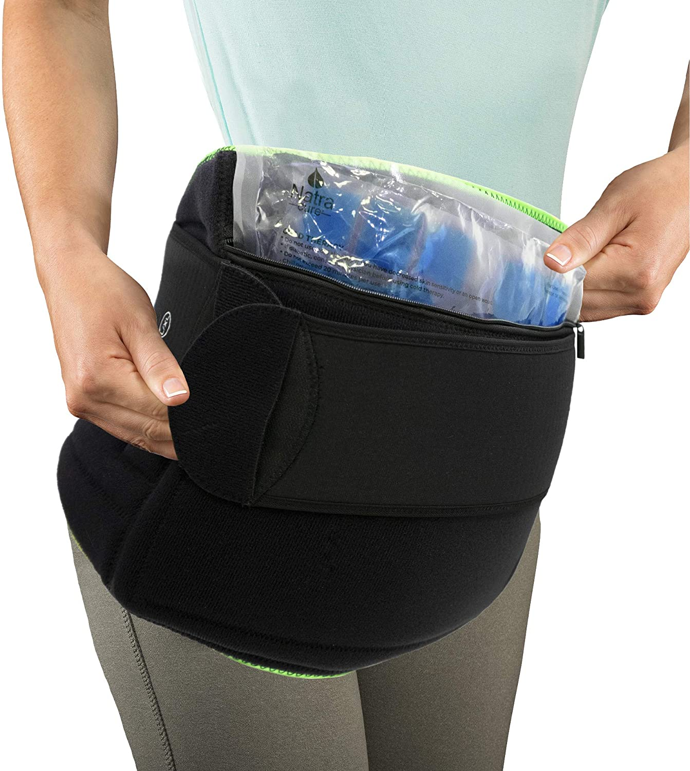 NatraCure (Hot or Cold) Hip and Back Pain Relief Wrap - (Large / X-Large) - (For Relief from Stiff Hips & Back, Inflammation, and Hip Surgery & Arthritis): Industrial & Scientific