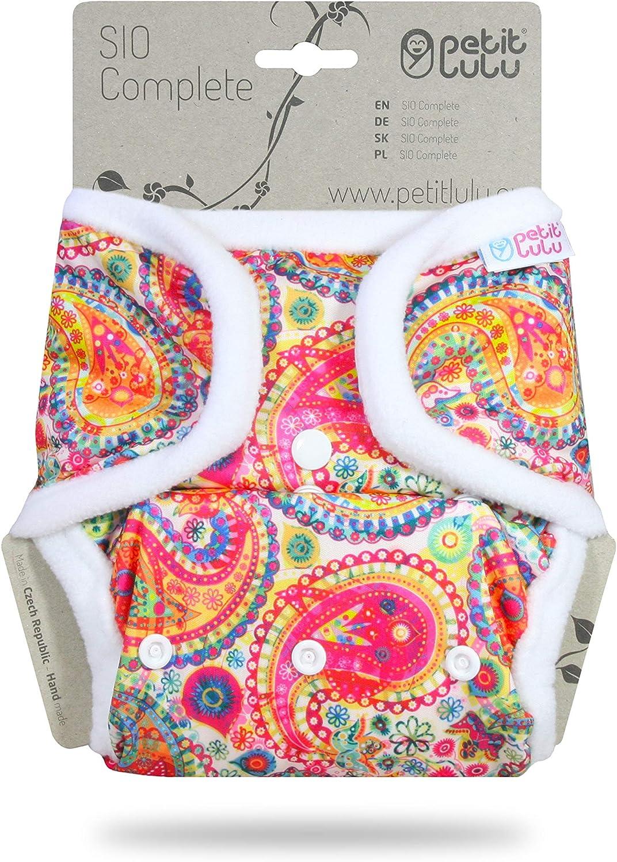 Fabricado en Europa rosa rosa | Rainbow SIO completo Petit Lulu AI2 pa/ñal de tela de un tama/ño reutilizables y lavables todo en dos pa/ñales de tela 9-33 libras broches