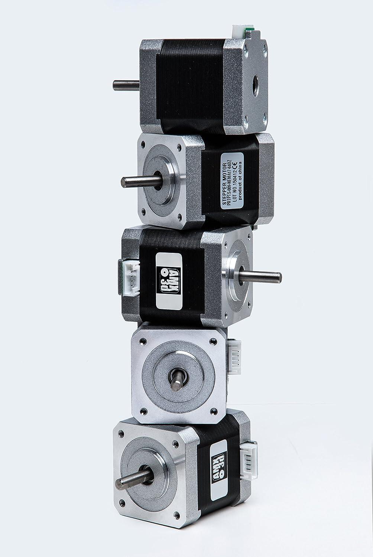 Amazon.com: 5 PCS AMX3d High Holding Torque 84oz ( 59Ncm ) Bipolar Stepper  Motor - Nema 17 frame - 1M Wiring Harness: Industrial & Scientific