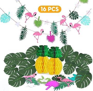 Ucradle 15 PCS Juego de decoración de la Fiesta Tropical de con ...
