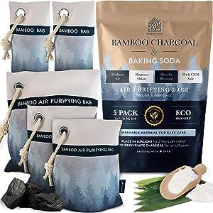 Bamboo Charcoal Air Purifying Bag - charcoal bags odor absorber- nature fresh air purifier bags - air purifier bags