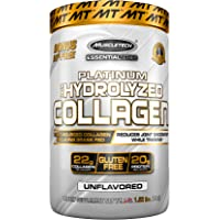 """""""MuscleTech Platinum 100% Hydrolyzed Collagen, Collagen Peptides, Unflavored, 1.5 Pounds"""""""