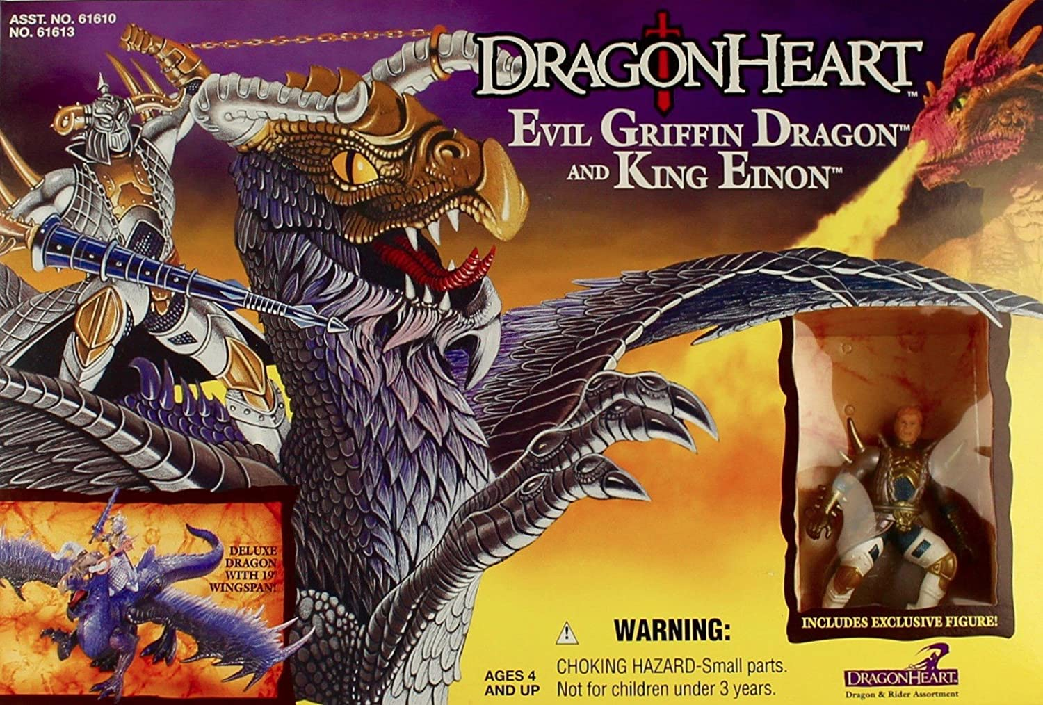 Dragonheart   Evil Griffin Dragon and King Einon Action Figure