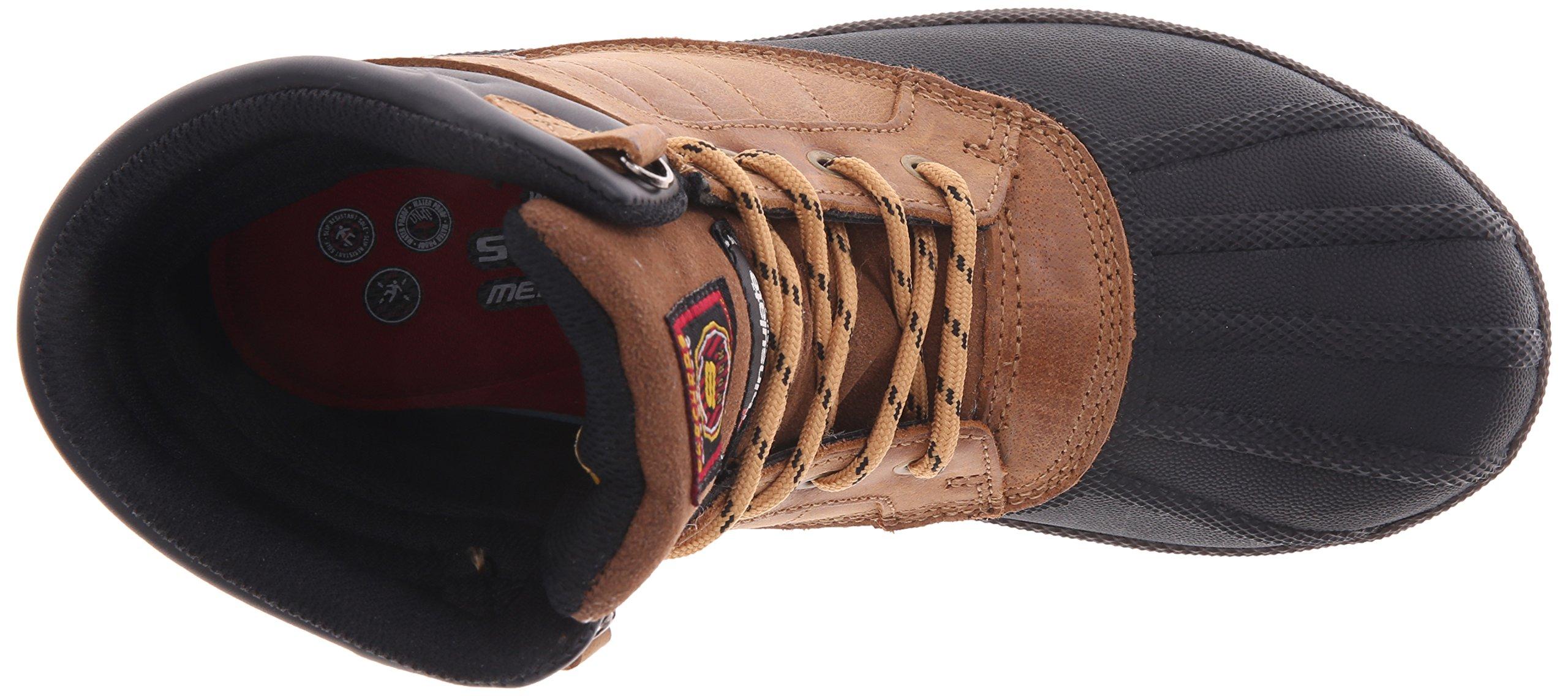 Skechers for Work Women's Duck Rain Boot, Brown, 5.5 M US by Skechers (Image #8)