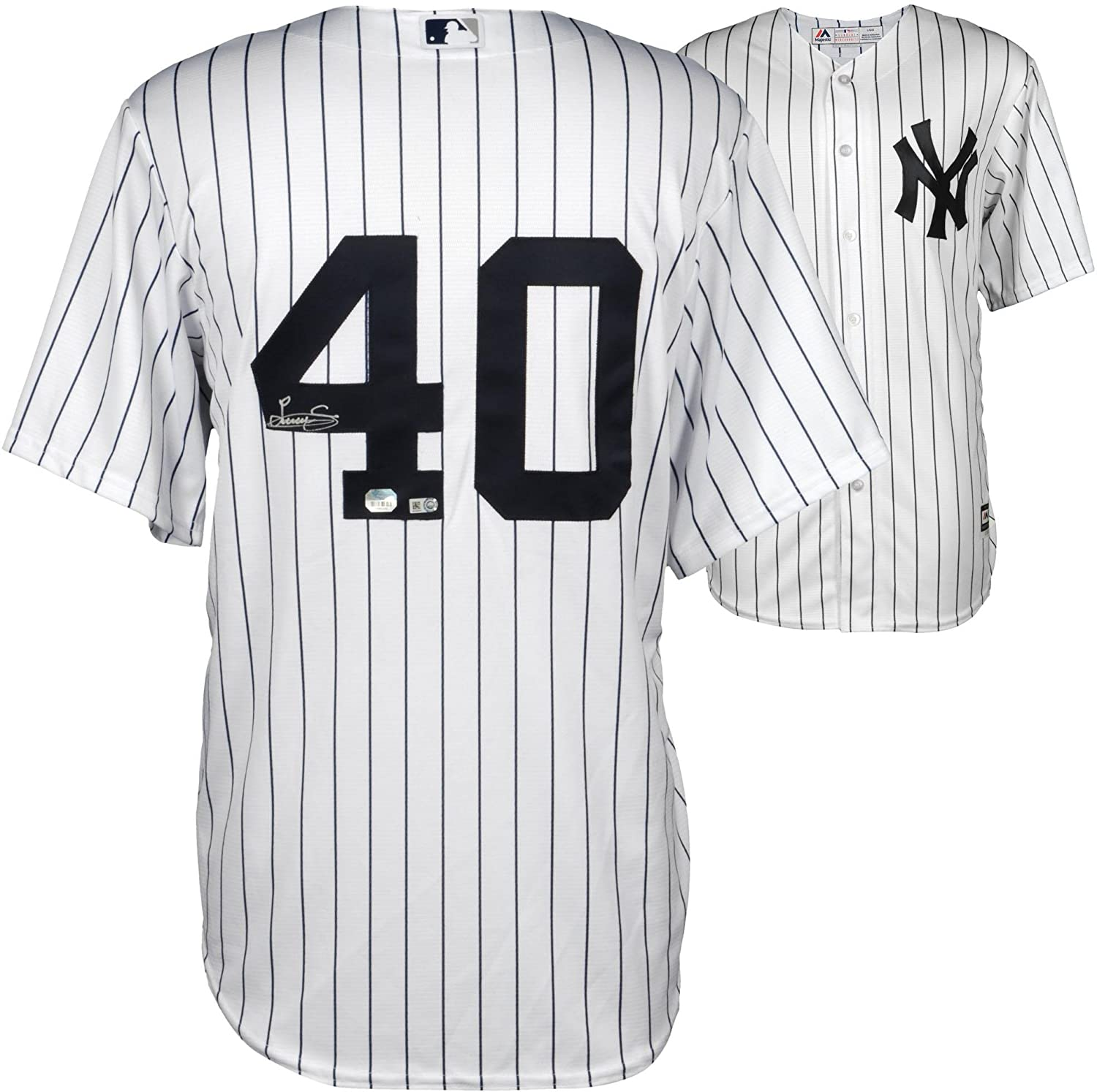 Luis Severino New York Yankees Autographed White Replica Jersey - Fanatics  Authentic Certified - Autographed MLB Jerseys at Amazon s Sports  Collectibles ... 36b93aada4e
