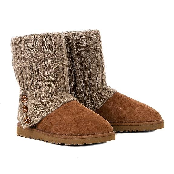 Calcetines de Cardy De Punto De Oveja UGG Botas de Piel Accesorios para Corto Botas, Color Marrón, Talla Talla Unica: Amazon.es: Zapatos y complementos