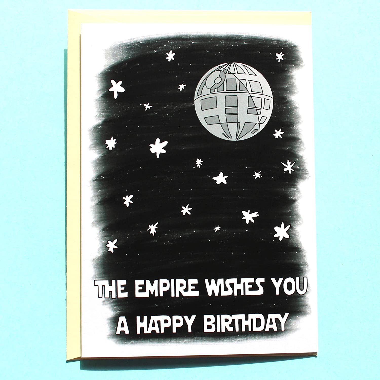Star Wars Birthday Card.Amazon Com Funny Death Star Birthday Card Star Wars