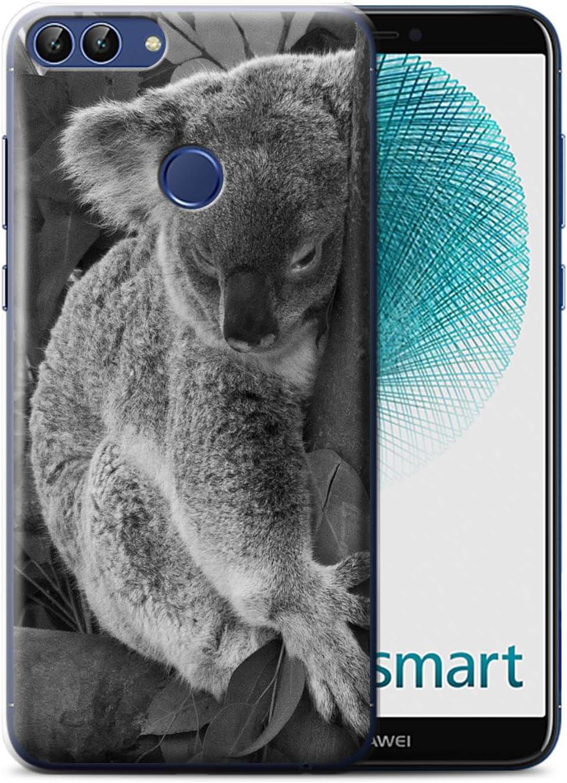 Stuff4 Coque pour Huawei P Smart Animaux de Zoo Koala Désign Transparent Etui Housse Case Rigide Ultra Mince