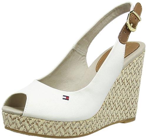 82dc9027523 Tommy Hilfiger Women s s E1285Lena 7D Heels Sandals Snow White 118 ...