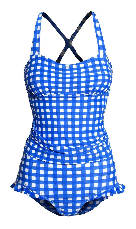 Women's Open Back Tankini Ruffle High Waisted Bottoms Two Piece Swimsuit Set T902-SWM-MW-WMS