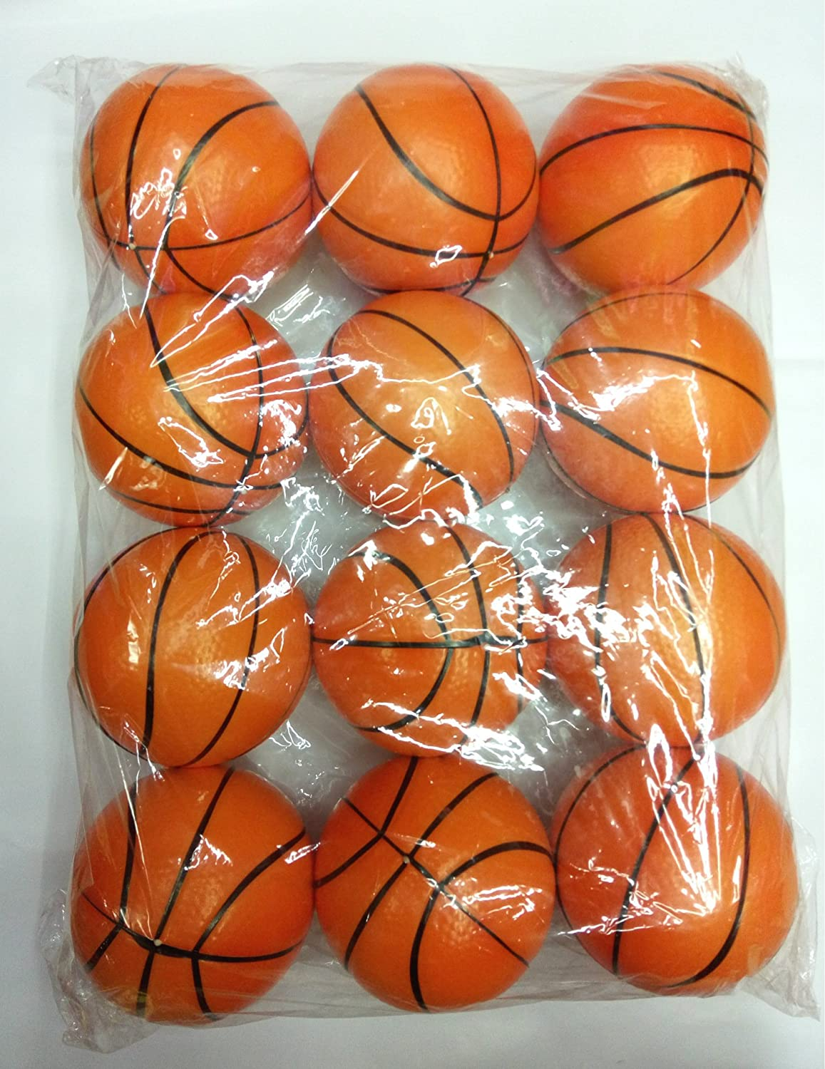 12pcs pack Basketball Stress Balls Toy for Toddlers and Kids Sports Squeeze Balls Bulk Pack of 12 Relaxable Stress Relief Basketball Squeeze Balls Toys for Children Boys Girls Christmas Gift