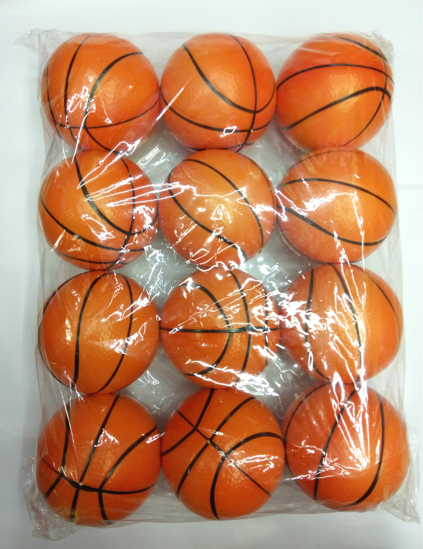 12pcs/pack Basketball Stress Balls Toy for Toddlers and Kids,Sports Squeeze Balls Bulk Pack of 12 Relaxable Stress Relief Basketball Squeeze Balls Toys for Children Boys Girls Christmas Gift