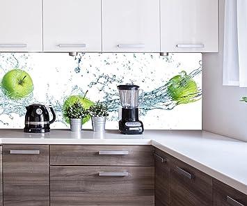 Küchenrückwand grüner Apfel Nischenrückwand Spritzschutz Design ...