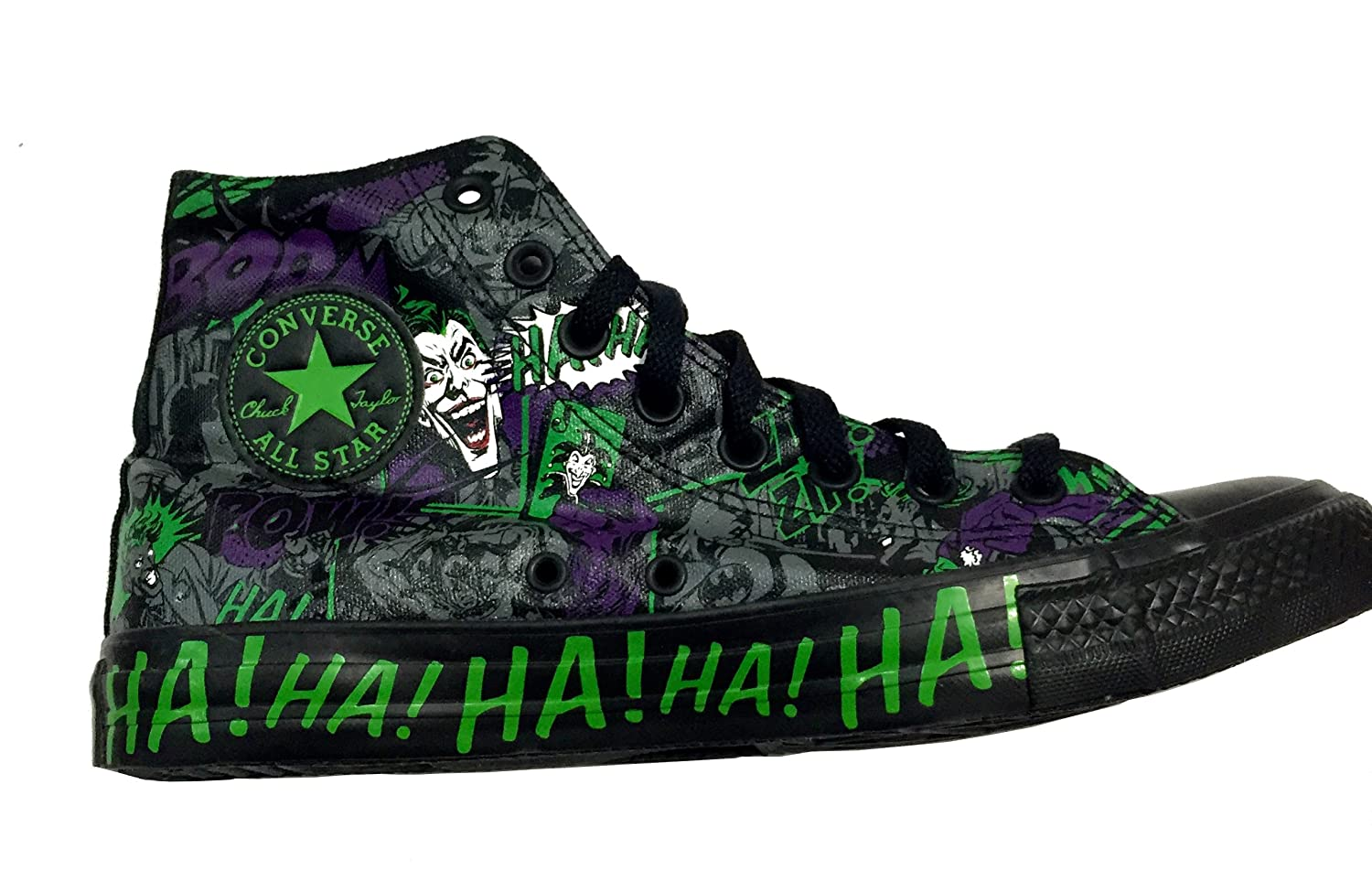3e061ff200b Converse Chuck Taylor Vintage The Joker All Star Unisex DC Comic Shoes (9  Mens US