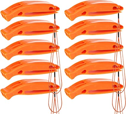 2 Orange Plastique Flottant sifflets pour BATEAU /& Marine urgences Eau survie