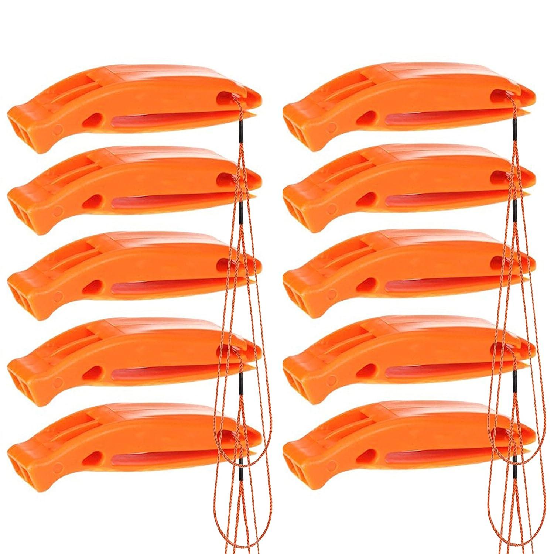 Silbato Portátil De Emergencia Y Supervivencia – Rescate Actividades Al Aire Libre – Accesorios de Seguridad Señalización– Deportes, Accidentes, Socorrista, Salvavidas, SOS y Mas - Color Naranja - Garantía Bramble