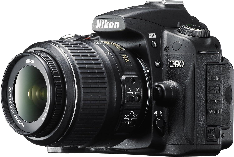 Nikon D90 - Cámara Réflex Digital 12.9 MP (Objetivo 18-55mm f/3.5 ...