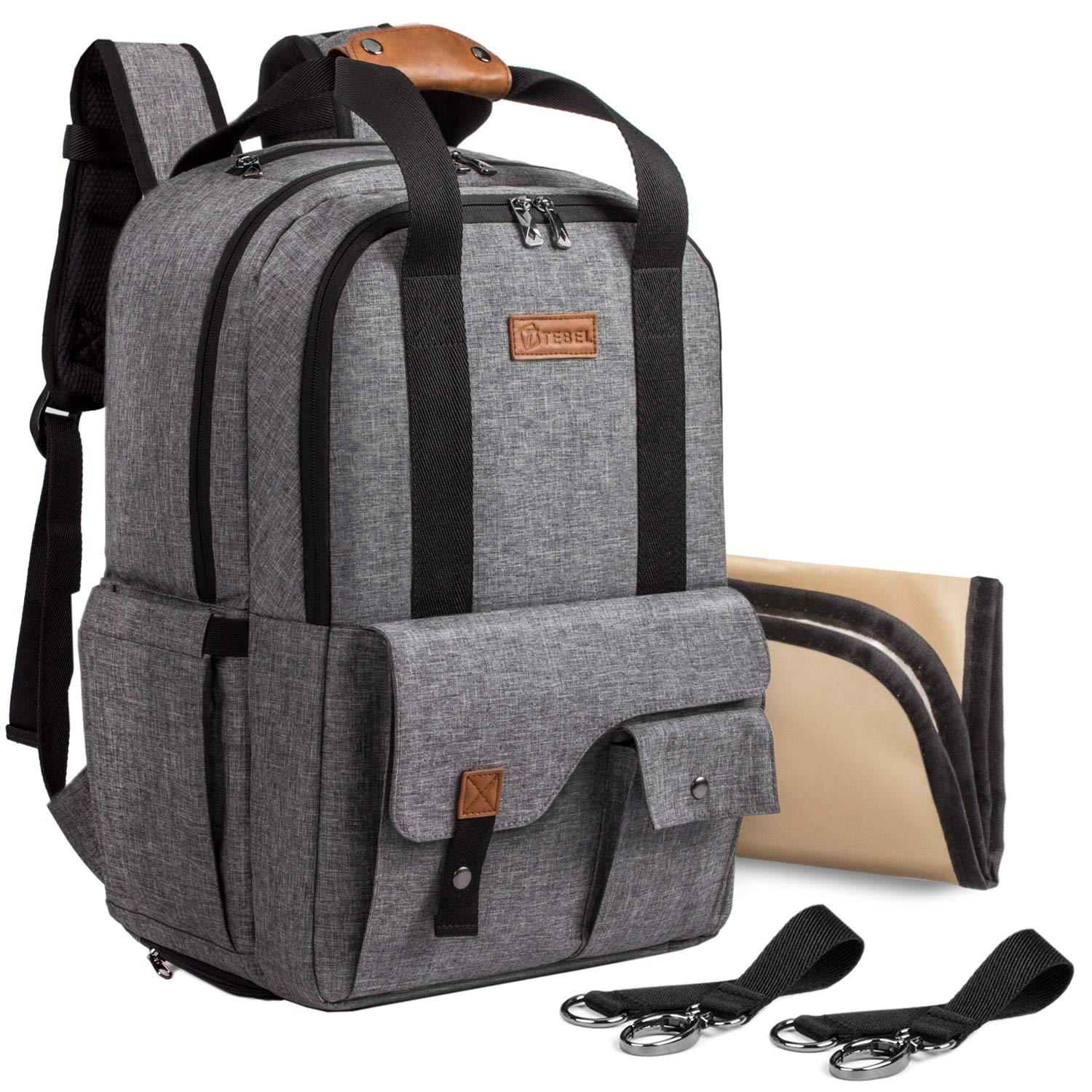 Amazon.com   TEBEL Baby Diaper Bag Backpack Multi-functional with Stroller  Strap 6a048d39a0625