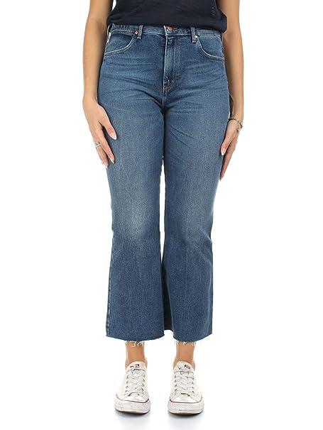 Wrangler W23070016 Pantalones vaqueros Mujer Azul 25: Amazon ...