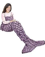 Ecrazybaby888 Shantou Wearable Manta de Cola de Sirena, Patrón de Fish-Escalas