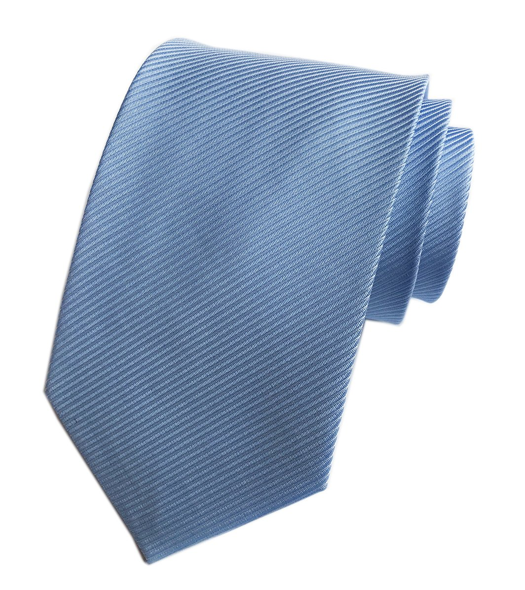 Elfeves Men's Sky Blue Silk Self Cravat Ball Party Ties 3'' width Woven for Gift