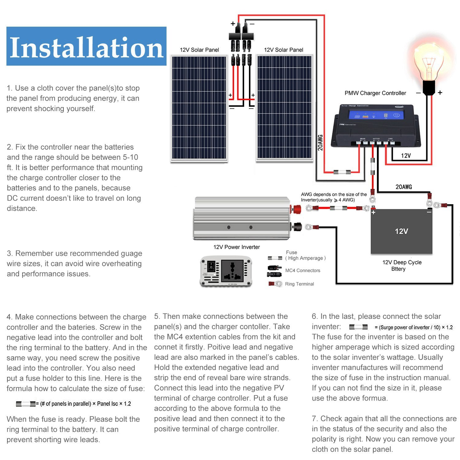 Awesome Komaes 200 Watts 12Volts Polycrystalline Solar Panel With Energy Wiring Digital Resources Funapmognl