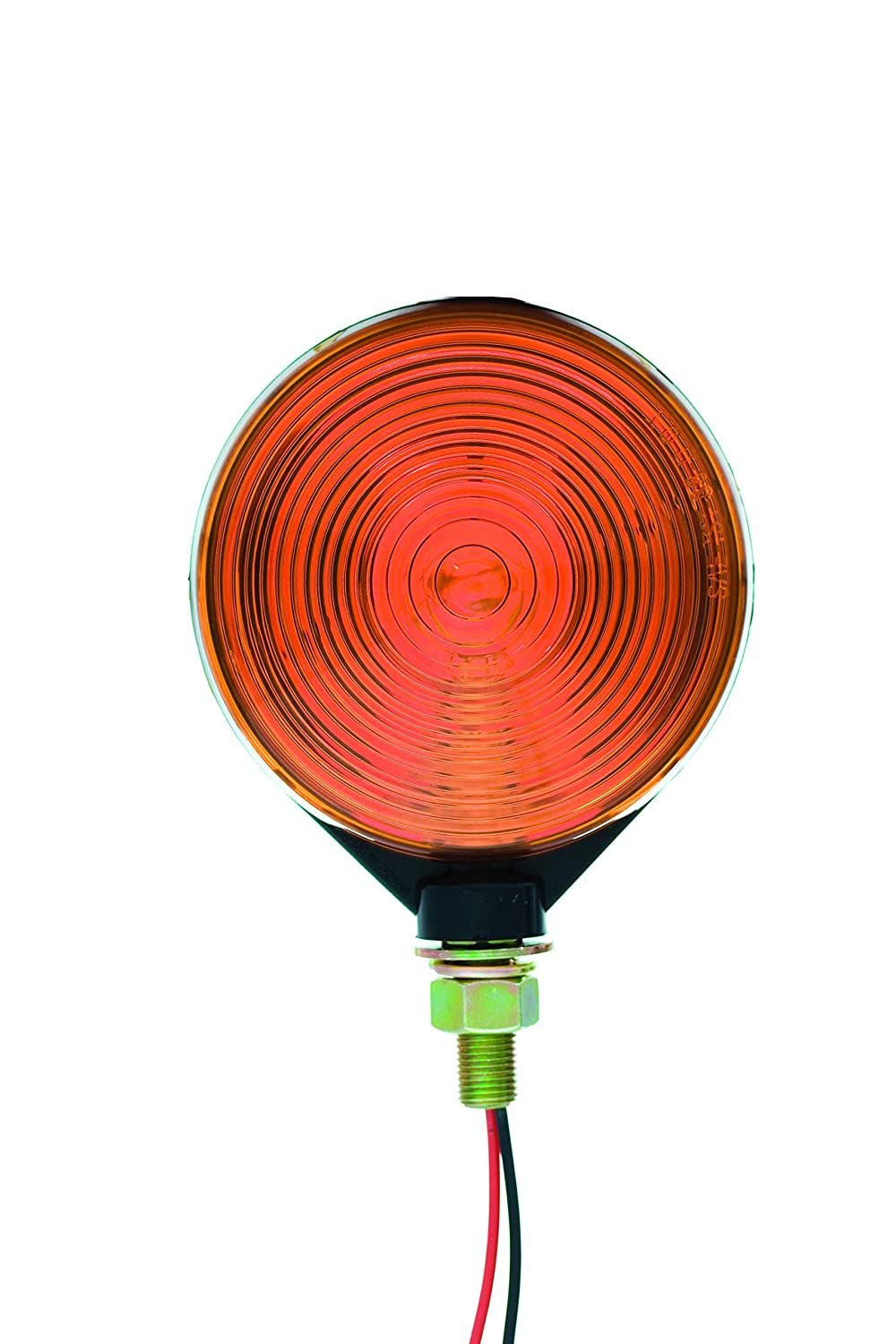 Uriah Products UL313003 4-⅛ Round Double Faced Pedestal Mount Marker Light Amber//red