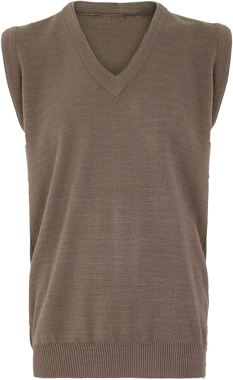 Rimi Hanger Mens Plain V Neck Slipover Knitted Sweater Jumper S//5XL