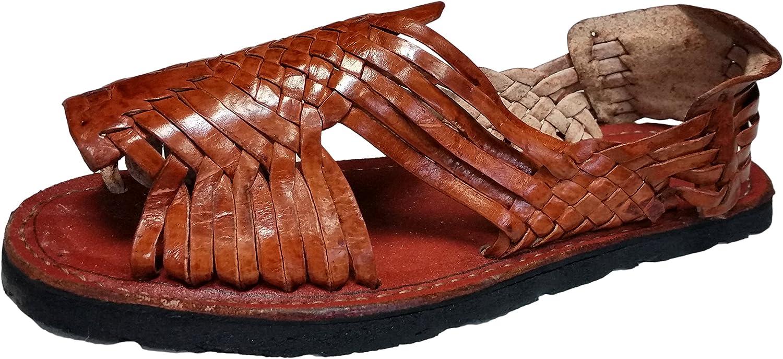 Genuine Leather Men Huarache Pachuco Color Chedron Mexican Sandals