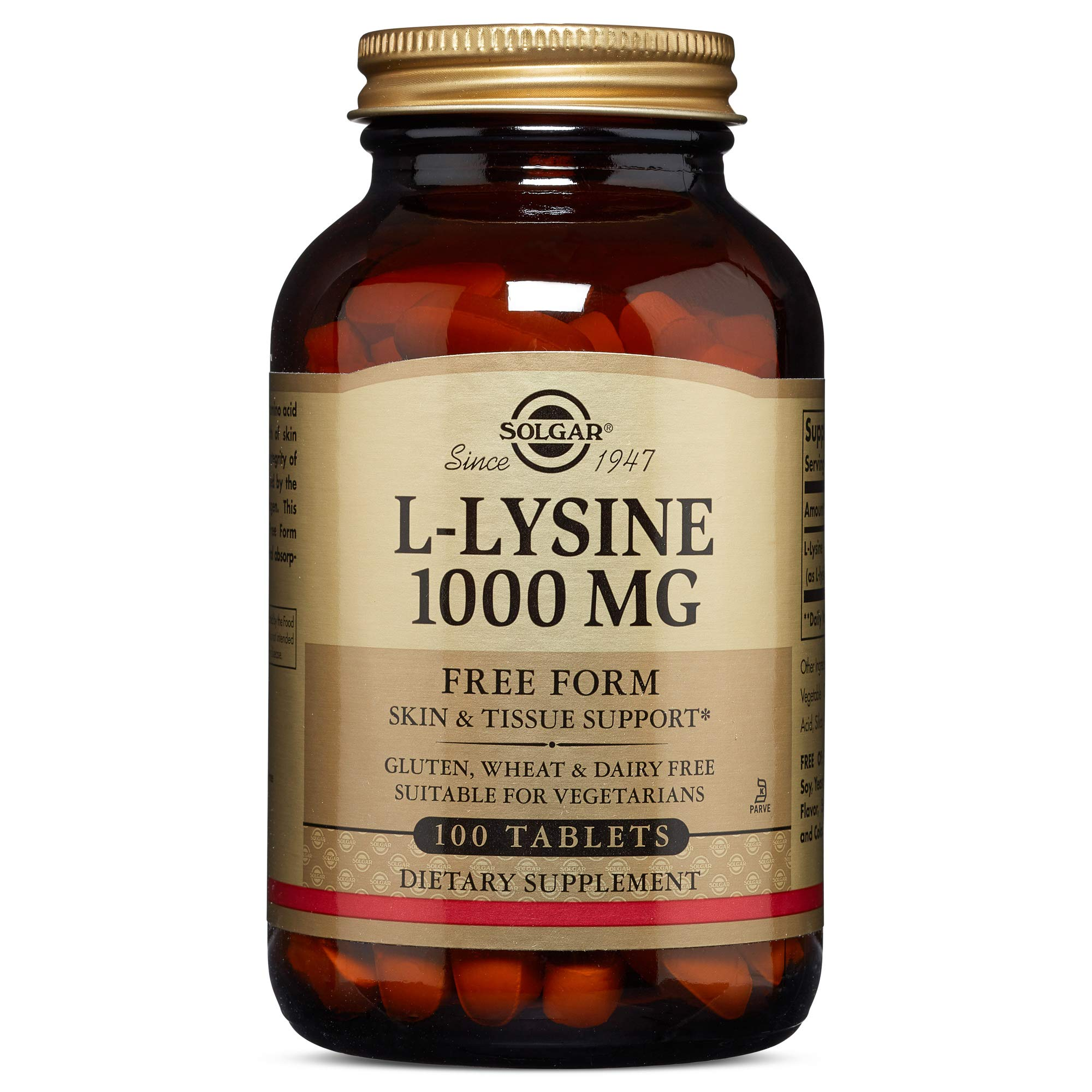 Solgar L-Lysine 1000 mg, 100 Tablets by Solgar