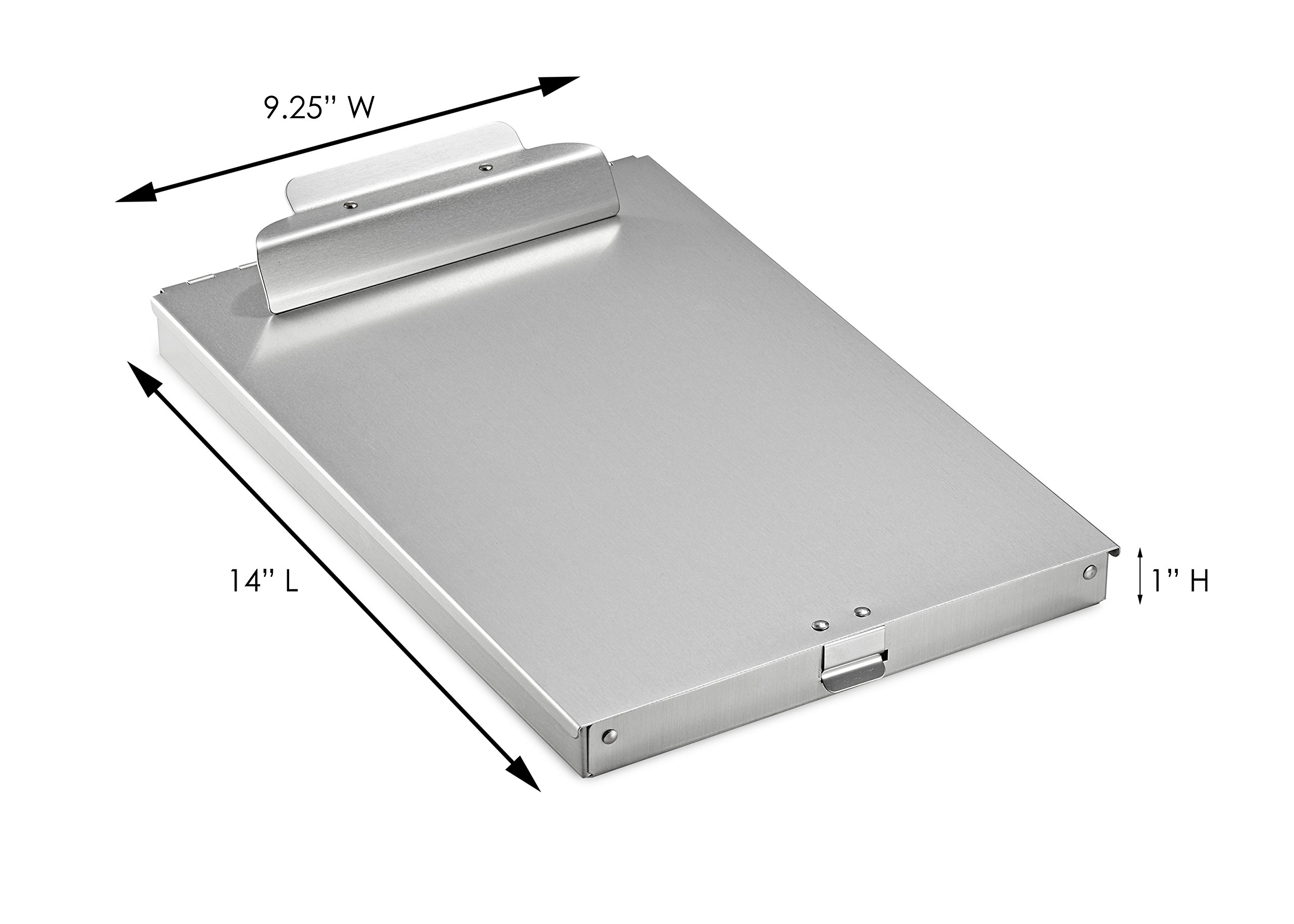 AdirOffice Aluminum Form Storage Clipboards - 9.25'' x 14'' - Spring-Loaded Tooth Clamp - Lightweight - Heavy Duty (1'' Height) by AdirOffice (Image #8)