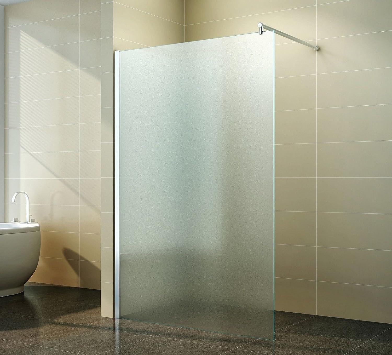 Walk in Duschabtrennung | Vollsatiniert | Milchglas | Duschwand ... | {Duschkabine glas 60}