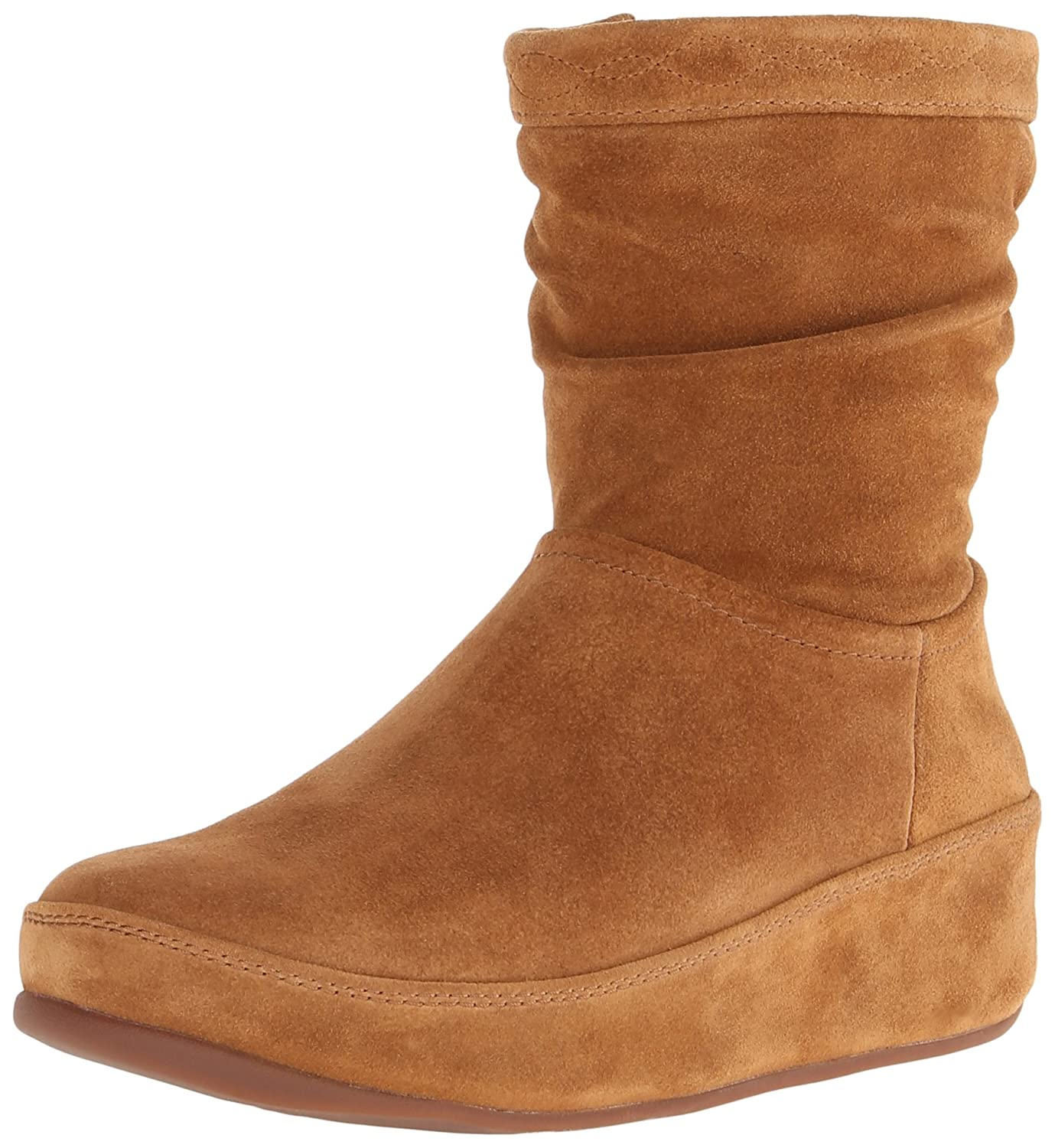 Amazon.com | FitFlop Women's Zip Up Crush Suede Boot | Ankle & Bootie