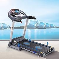 LONTEK Laufband 14km/h mit 12 Programmen LCD Bildschirm Dämpfungssystem Klappbar Treadmill DC Motor Schwarz Safety Key Sicherheitsfunktion