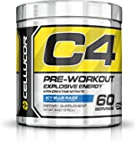 Cellucor - C4 Premium Pre Workout Powder with Creatine, Beta Alanine, and TeaCor for High Performance (195g) - Icy Blue Razz - 60 Servings