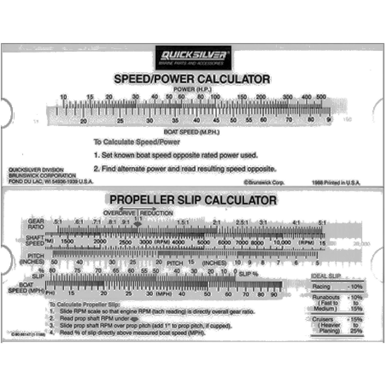 Amazon com: Mercury/quicksilver Prop Slip Calculator 90-86147a 1
